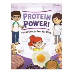 """Set of 12, 8 ½"""" x 11"""", 8 pages For ages 7-11 Learning about the importance of eating lean sources of protein can be both fun and educational for children with the Protein Power! Activity Book. This activity book offers challenging word and matching activities, writing prompts, recipes, trivia, and more that teach children how to make healthy food choices from the protein group. Also available in a classroom set that includes 36 copies each of 6 different Food Group activity book titles: Food Gro Healthy Eating Habits, Healthy Food Choices, Healthy Kids, Healthy Recipes, Eating Lean, Protein Power, Classroom Setting, Group Activities, Protein Sources"""