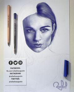[S09X16:44] #WIP #Ballpen #Portrait #Drawing