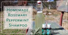 If you are looking for a homemade shampoo recipe that isn't quite no 'poo but is still free of toxic chemicals, this Rosemary Peppermint shampoo recipe really ...
