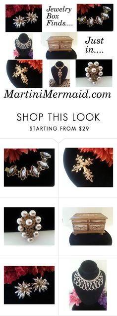 """Jewelry Box Finds"" by martinimermaid ❤ liked on Polyvore featuring Trifari"