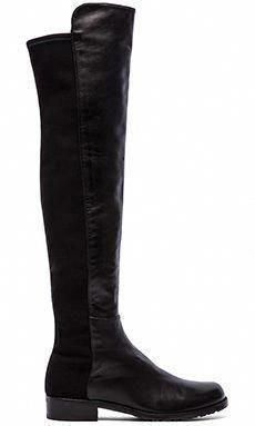 824c228c0 Stuart Weitzman 5050 Stretch Leather Boot in Black  StuartWeitzman
