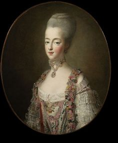 Marie Antoinette, Queen of France, in a court dress   Drouais, François Hubert   V&A Search the Collections