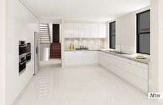 AFTER: A modern, streamlined kitchen