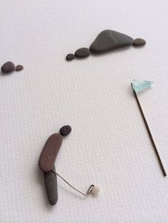 art with pebbles and sea glass