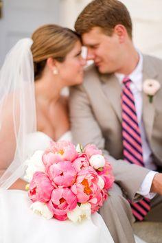 peonies + stripes   Katelyn James #wedding