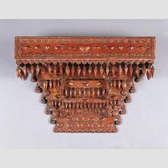 "TRAMP ART SHELF/ Artist unidentified, United States, 1940, wood, 18 × 25 × 7"", collection American Folk Art Museum, gift of Sam and Myra Gotoff: 2002.26.1. Photo credit: Gavin Ashworth"