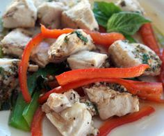 Heat Oven to 350: Basil Chicken Foil Dinner