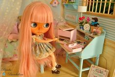 Custom Blythe & OOAK dioramas and furnitures scale 1:6 Blythe, momoko, barbie, monster high ...