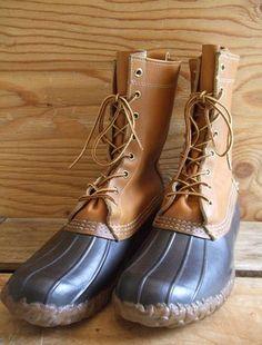 LLBEAN 冬季用ブーツ×2 両方ともビブラムソール。イメージはガムシューズの底がビブラムでごつい感じです。ほぼ未使用ですが片方のブーツにはインナーがありません。80年代後半に購入した物です。箱付きです。  by hiroshi