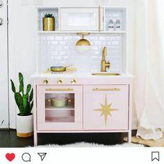 Mommo design: ikea play kitchen hacks kids в 2018 г. Ikea Toy Kitchen Hack, Diy Play Kitchen, Play Kitchens, Kitchen Hacks, Baby Room Furniture, Kids Furniture, Luxury Furniture, Furniture Design, Ikea Duktig