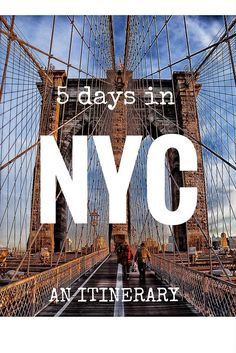 Five days in New York City! An itinerary from While I'm Young and Skinny travel website.