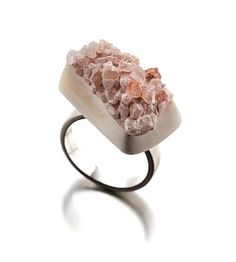 Contemporary Art Jewelry and Sculpture Contemporary Jewellery, Modern Jewelry, Jewelry Art, Contemporary Art, Pink Palette, Himalayan Pink Salt, The Blushed Nudes, Diy Rings, She Was Beautiful