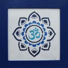 Mandala Om en azules