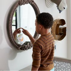 Land of Nod has come home to Crate & Barrel. Crate and Kids is a new destination for high quality baby and kids furniture and decor. Over The Door Mirror, Mirror Door, Custom Furniture, Kids Furniture, Kids Mirrors, Round Mirrors, Rope Mirror, Clearance Rugs, Mirrors