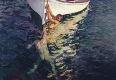 Joaquín Sorolla Bastida (1863-1923). El bote blanco, Jávea. 1905. Óleo sobre lienzo. Colección particular.