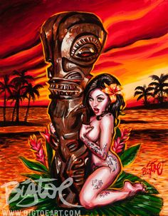 Hey, I found this really awesome Etsy listing at https://www.etsy.com/listing/183734549/bigtoes-marquesan-maiden-limited-edition