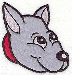 Devoted happy dog E double applique | Applique Machine Embroidery Design or Pattern