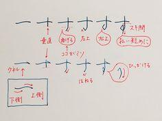 Japanese Calligraphy, Arabic Calligraphy, Japanese Handwriting, Script Writing, Hiragana, Aesthetic Gif, Study Notes, Trivia, Typo