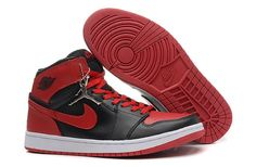 competitive price 8e6bf cd6e0 Air Jordan 1 (I) Black Varsity-Red White Mens For Sale Online