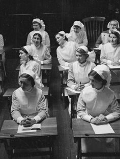 Student Nurses.....I would be stabby if I had to wear this get-up during an exam!