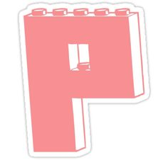 """""""THE LETTER P by Customize My Minifig"""" Stickers by ChilleeW 
