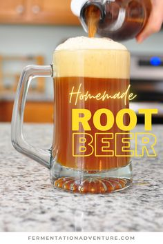 Check out this foamy homemade root beer recipe! By the end of this video, you will know how to make root beer the old fashioned way! And yes, this root beer is also fermented! We'll share our favorite recipe, including popular traditional ingredients like sassafras and sarsaparilla. Plus, we may have decided to turn this into a dairy-free root beer float... Yum! Root Beer Ingredients, Best Root Beer, Sassafras Root, Ginger Bug, Fermentation Recipes, Beer Tasting, Homebrewing, Beer Recipes