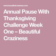 Annual Pause With Th