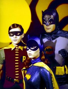 Batman is an American television series, based on the DC comic book character of the same name. It starred Adam West as Batman and Burt Ward as Robin — two crime-fighting heroes who defend Gotham City.[1][2] It aired on the American Broadcasting Company (ABC) network for three seasons from January 12, 1966 to March 14, 1968. The show was aired twice weekly for its first two seasons, and 120 episodes were produced in total.