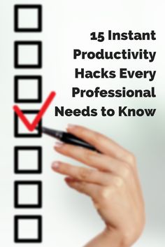 15 Instant Productivity Hacks Every Professional Needs to Know http://www.inc.com/jayson-demers/15-instant-productivity-hacks-every-professional-needs-to-know.html