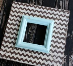 This chocolate chevron on cream w/pale aqua is by roundthebendshop out of memphis, tn!!!