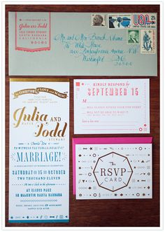 designed and printed by Tabletop Made ~ #letterpress #wedding #invitation