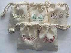 50 Muslin Bags Cotton Favor Candy Treat Wedding Christmas Birthday Party Guests Decorations Sweets baby shower  Guests  Rustic Wood. $55.00, via Etsy.