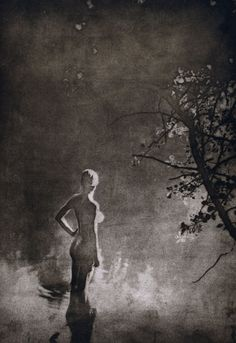 Undated, 'Pond,' by Tomas Rasl Gelatin silver. Nude Photography, Black And White Photography, Photography Music, Vintage Photographs, Vintage Photos, Photo D Art, Arte Horror, Monochrom, Erotic Art