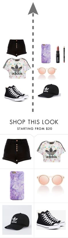 """What to wear in summer"" by itsofia on Polyvore featuring River Island, adidas Originals and Converse"