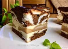 Łaciata Krówka - ciasto - przepis ze Smaker.pl Tiramisu, Food And Drink, Cookies, Cake, Ethnic Recipes, Kuchen, Crack Crackers, Biscuits, Cookie Recipes