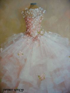 ballet Tutu painting The Dance of the Flowers Treasury di 4WitsEnd