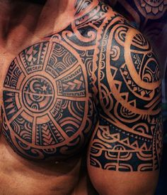 49 Maori tattoo ideas - the most important symbols and their meaning - breast . - 49 Maori tattoo ideas – the most important symbols and their meaning – chest shoulder Maori tat -
