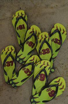 Softball flip-flops