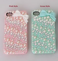 iPhone Case , iPhone4G case , iPhone4S case, iPhone5 Case ,Pearl Bowknot Handmade  Phone Case Cover For iPhone4/4S For iPhone5
