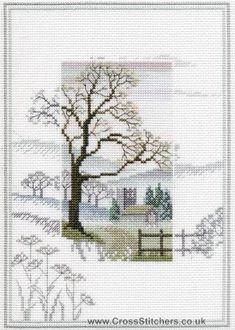 Winter Tree - Misty Mornings - Cross Stitch Kit by Derwentwater Designs