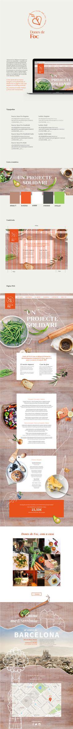 DF restaurant. Web design