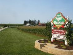 """""""FIELD OF DREAMS Movie Site"""" fans can visit the Iowa farm and baseball field filming location featured in the 1989 Kevin Costner movie. Explore theOfficial Websitefor more on the making of the film and visitor information: http://www.fieldofdreamsmoviesite.com/"""