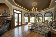 decorative ceiling ideas | Mediterranean Home tray ceiling Design Ideas, Pictures, Remodel and ...