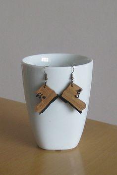 Wooden earrings. by Stelakastela on Etsy, $13.00