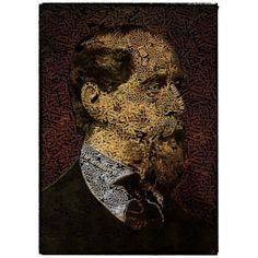 """Titulo """"Charles Dickens"""" 1,20m x 90 cm Ilustracion digital Impresión Giclée sobre lienzo Fine Art Serie Numerada y certificada de 25 ejemplares"""