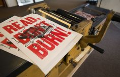 Letterpress Banned Books Poster (2012), for Brazos Bookstore | Workhorse Printmakers | Houston