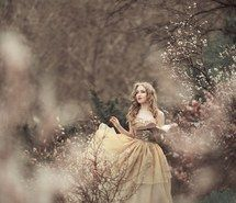 Inspiring image beautiful, blonde, book, curly hair, dress, fairytale, flowers, garden, inspiring, magic, make up, photograph, princess, red lipstick, spring, Prom Dresses 2015 #2787759 by miss_dior - Resolution 500x755px - Find the image to your taste