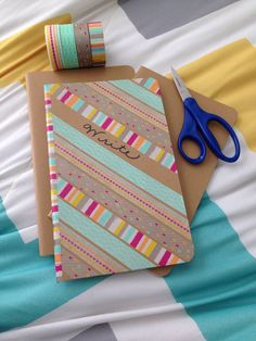 Washi Tape Journal! Washi Tape & journals from target. Made this in 5 minutes!
