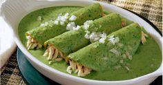 Recetas: Enchiladas de Espinacas