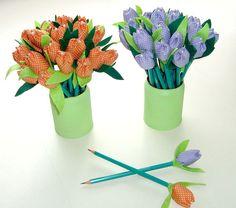 Lapis tulipa como sugestao de lembrancinhas da portfolioideias.wordpress.com